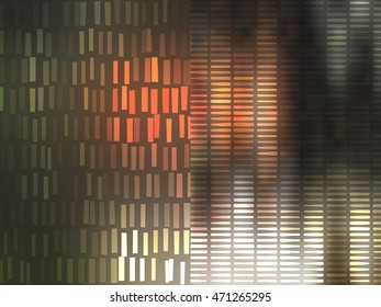 abstract background. gold background with waves and stars illustration digital.