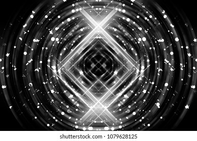 Abstract background of graphic silver illustration.