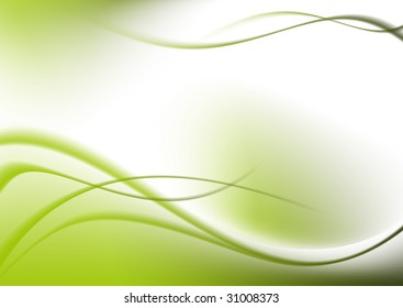 abstract background green curves.