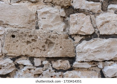 Abstract background with grey stone wall