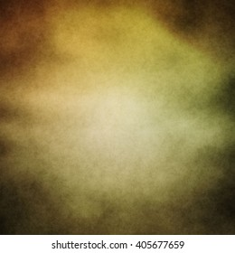Abstract Background with grunge texture with bright center spotlight and black vignette border frame