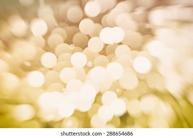 Abstract background holidays lights in motion blur vintage image