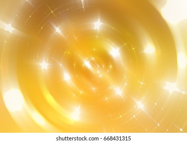 abstract background illustration digital with brilliant golden circles.