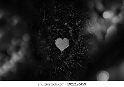 abstract background image with heart in the middle and spikes and glow lights around it.creative background image with heart.heart shaped backdrop with deep meaning.love hurts.black and white.