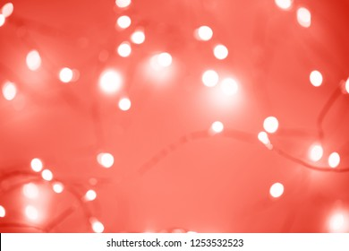 Abstract background ispired by Living Coral - Color of the Year 2019.