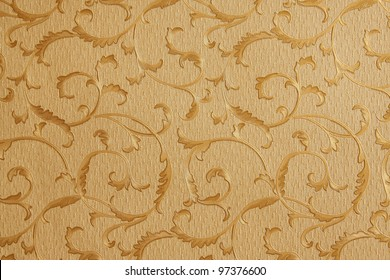 Abstract background with leafs in yellow and beige