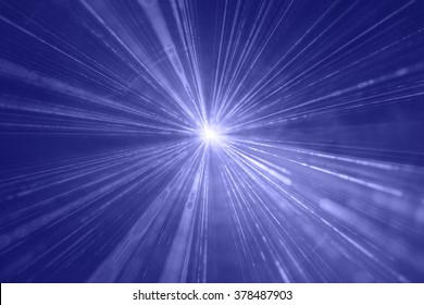 Abstract background with lights burst. Laser lights and fog. Party nightclub lights