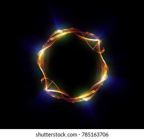 Abstract background. luminous swirling. Elegant glowing circle. Big data cloud. Light ring.