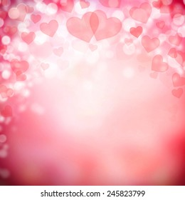 Abstract background made of hearts symbols