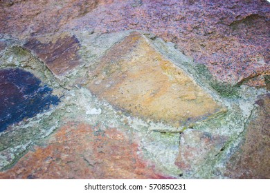 Abstract background made of stone, outdoor design of mining origin
