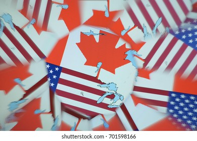 Abstract background, maps, countries, flags