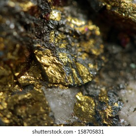Abstract background from a metal mineral. Macro.