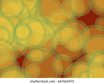 Abstract background.  Multicolored circles and different sizes on a colored background