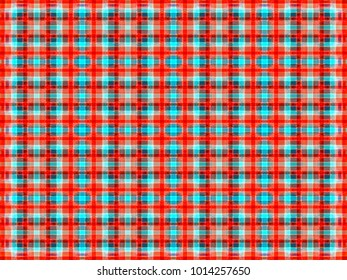 abstract background. multicolored intersecting striped pattern. simple weave texture. geometric checkered illustration.
