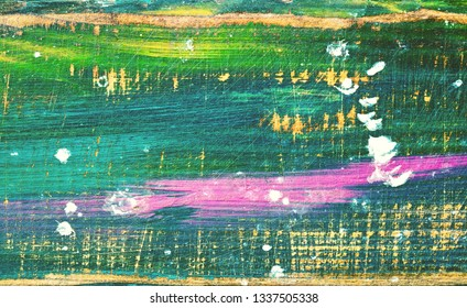 Abstract background. Multi-colored but mostly green. Graphic resource, free space