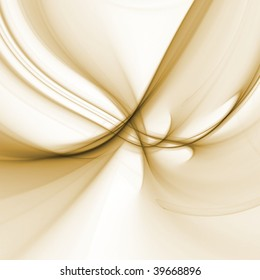 Abstract Background - Natural brown colored textures and threads flowing and tangling against white backdrop.