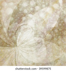 Abstract Background - Natural colored shapes collage with mottled texture and paper grain effect.