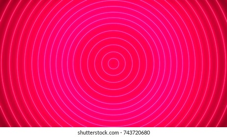 Abstract background with neon circles. 3d rendering