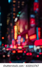 Abstract background New York night, neon lights