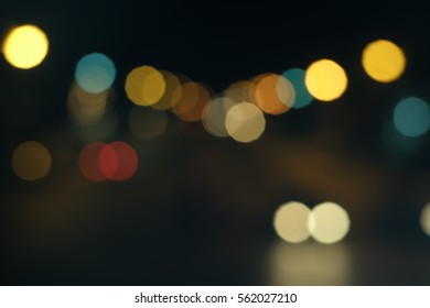 Abstract background with night light