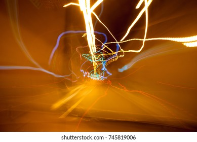 Abstract background of night light.