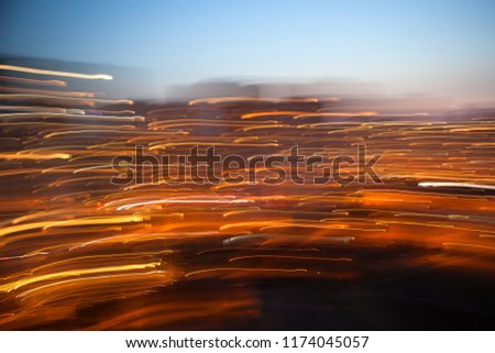 Abstract background of night light city , long exposure shot