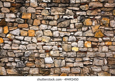 Abstract background of an obsolete, old grunge brick wall