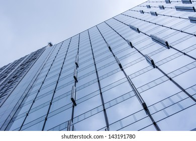 Abstract background of office building wall.