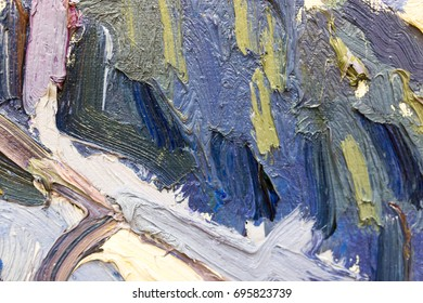 Abstract background of oil paint on canvas
