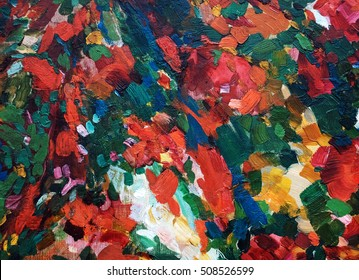 abstract background of oil painting with brush strokes
