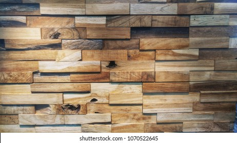 Abstract background old decorative interior wood planks