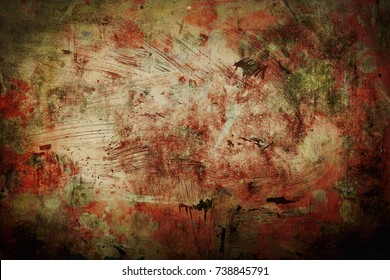 abstract background old grunge painting sepia and black vignette