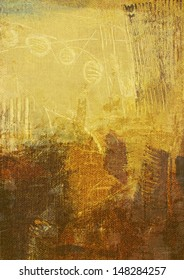 abstract background on canvas - created by combining different layers of paint