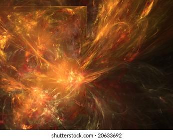 Abstract background. Orange palette. Raster fractal graphics.