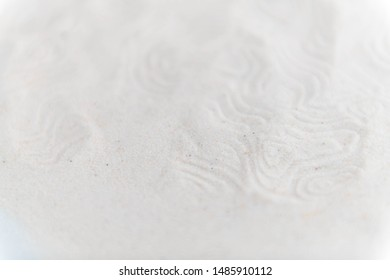 Abstract Background with Organic Shaped in White Sand