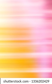 Abstract background of pastel pink and yellow colors. Blurred defocused image.