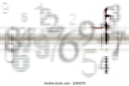 Abstract background pattern of gray superimposed numbers