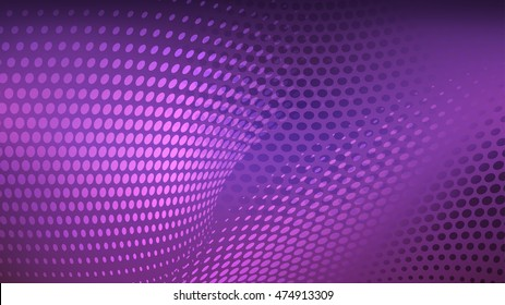 Abstract background with pattern of halftone dots