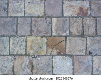 abstract background paving stone on the street pattern brick surface