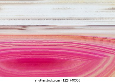 Abstract background, pink agate slice mineral