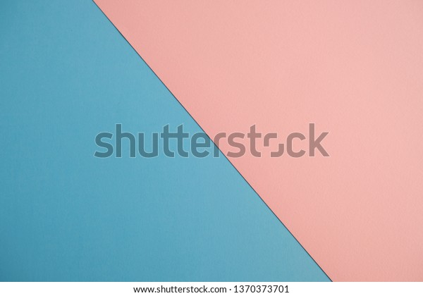 Abstract background of pink and blue paper, minimal geometric concept design