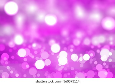 abstract background pink bokeh circles. Beautiful background with particles.