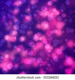 abstract background, pink light circles on violet
