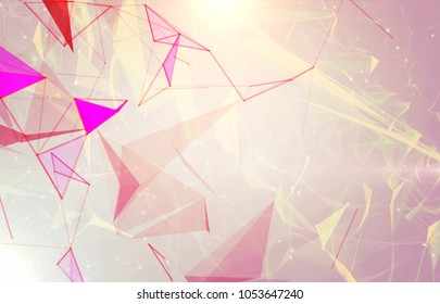 Abstract background polygonal. Bright vintage digital illustration with triangles.