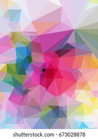 Abstract  background in polygonal style. colorful geometric pattern for your design