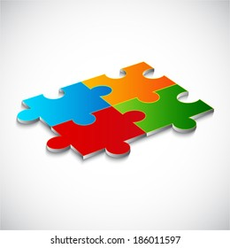 Abstract background with puzzle. Raster version