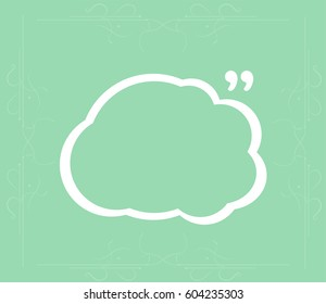 Abstract background. Quotation Mark Speech Bubble. Quote sign icon.