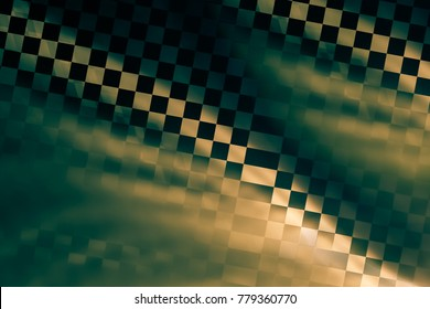 abstract background. racing texture. green and gold shiny tones