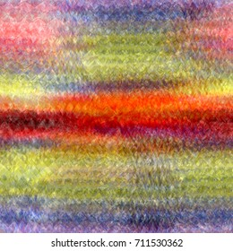Abstract background with rainbow horizontal grunge stained stripes and centrifugal blurred  rays