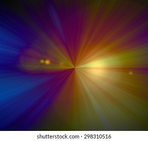 Abstract background, rays of light